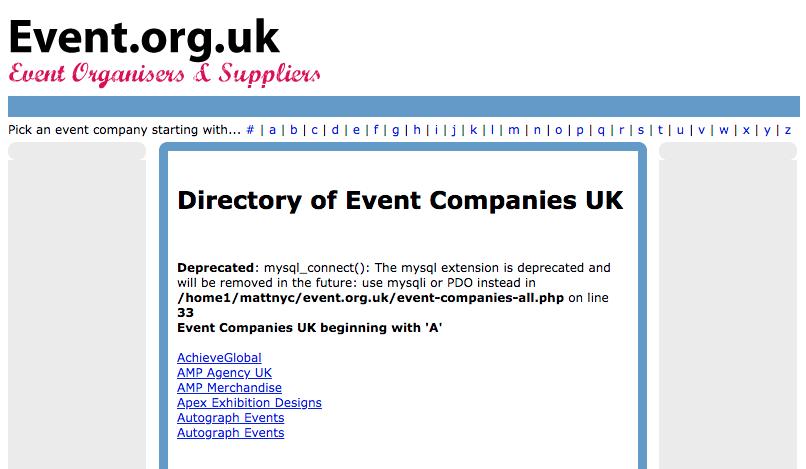 Kysymyksiä tapahtumasuunnittelijalle: Event.org.uk.